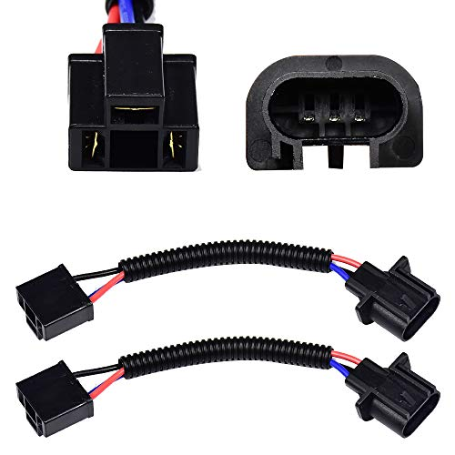 HUIQIAODS H13 9008 to H4 9003 Adapter Pigtail Wire Connector Headlight Conversion Retrofit for Jeep Wrangler JK TJ or Trucks 2pcs