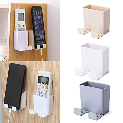 3 Piezas Caja Almacenamiento Control Remoto, ABS Montaje en La Pared con Gancho Caja Organizadora para Soporte Carga para Teléfono Móvil, Caja Almacenamiento para Control Remoto(A)