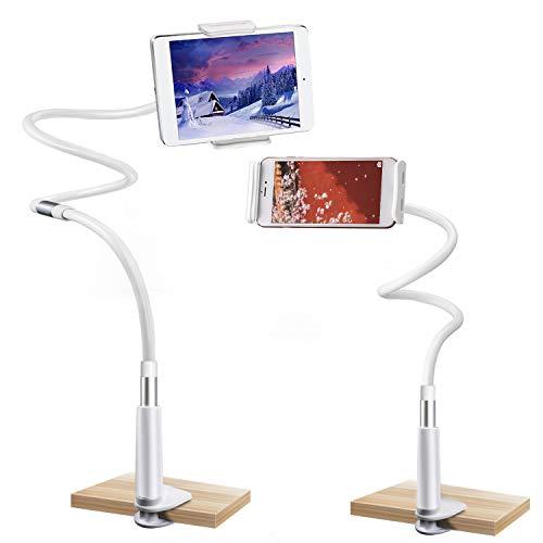 Gifort Handyhalter, Handy Halterungen Schwanenhals Ständer 360 ° Drehen Einstellbare faltbar Halter für 4-10.6 Zoll Großbild Handy/Mini Android/IOS Device (3 Combinations)