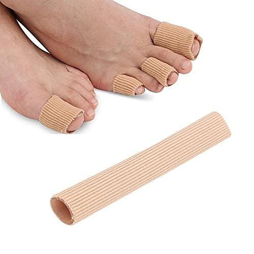 Aokeeu 1 Stück Silikon Zehenschutz Toe Cushion Tube Schlauchbandage Soft Gel Fingerschutz Zehenkappen Pad für Blasen, Schwielen, Finger und Zehen
