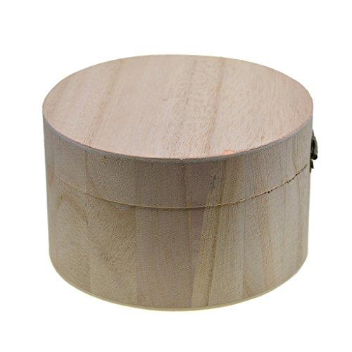 D DOLITY Caja de Madera de Almacenamiento Magnética en Forma de Redondo...