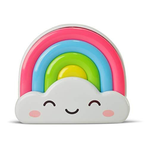 AMEZIN 0.5w Rainbow Kids LED Night Light Plug in Dusk to Dawn Sensor Nursery Nightlight for Children Girls Boys Toddler Gift