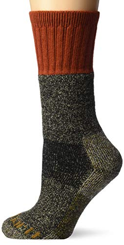 Carhartt womens Cold Weather Boot Casual Sock, Rust, Shoe Size 5-12 US