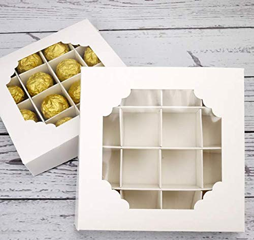 Empty Sweet Boxes with Inserts and Window Pick and Mix Containers Chocolate...