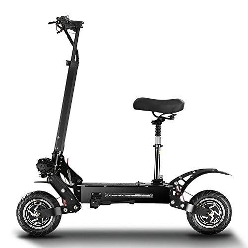 Patinete Electrico Bicicleta Eléctrica Plegable con Amortiguador Hidráulico de Horquilla Delantera Tipo...