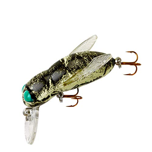 Rebel Lures Bumble Bug Topwater / Crankbait Fishing Lure, 1 1/2 Inch, 7/64 Ounce, Horse Fly