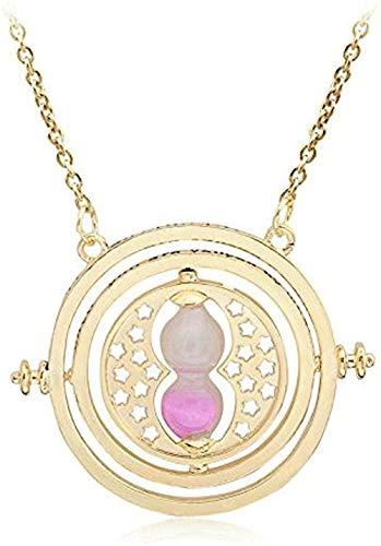 LBBYLFFF Collar Moda Simple Temperamento Mujer Reloj de Arena Collar Regalos