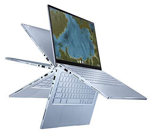 Asus Chromebook C433TAAJ0043 PC Portable tactile et convertible 14' (Intel Pentium Gold, 8Go de RAM, 64Go EMMC, Chrome OS) Clavier AZERTY Français [Ancien Modèle]