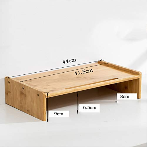 Bureau Monitor Standaard, Bamboe Hoogte Verstelbare Bureau Plank Organizer Veelzijdig Als Opslag Plank & Scherm Houder 44x25x10cm(17x10x4inch) primary color D