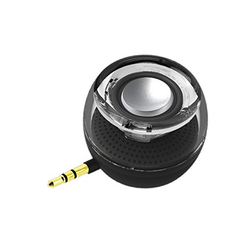 Portable Speaker Leadsound Crystal 3W 27mm 8Ω Mini Wireless Speaker with 35mm Aux Audio Jack Plug in Clear Bass Micro USB Port Audio Dock for Smart Phone for iPad Computer Black