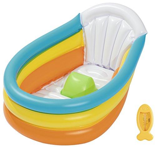 Bestway Up, In & Over Squeaky Clean Inflatable Baby Bath Aufblasbare Baby Badewanne 76x48x33cm