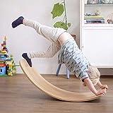 HD-Dreamer Kinder aus Holz Balance Board, Kinder Curved Kippbrett Seesaw Yoga Fitness Equipment Baby-Indoor-Spielwaren Sport