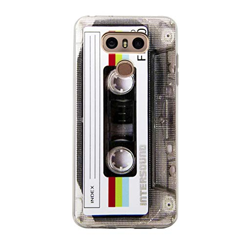 TNCYOLL Compatible with LG G6 Cool Tape Case,Slim Dual Retro Cassette Music Shockproof Bumper Protective Soft Phone Cases Cover for LG G6