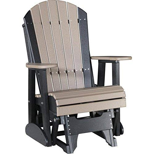 LuxCraft Recycled Plastic 2' Adirondack Glider Chair - Lead Time to Ship 4 Weeks
