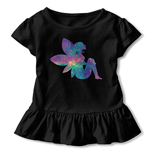 Niñas Manga Corta Galaxy Fairy Camiseta de Manga Corta para niños Unisex Ropa de Escalada para bebés Monos Mameluco Manga Corta Onesies Ligeros Negro
