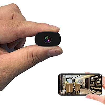 Mini Hidden Cameras PNZEO W3 Spy Cam Portable Wireless WiFi Remote View Camera Small Home Security Cameras Indoor Outdoor Video Record Smart Motion Detection by Clouds flying technology co., LTD.