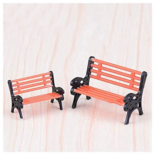Hibeilinq 2pcs Mini Chaise Banc Décoration Miniatures fées Ornements de Jardin Figurines Jouets Bricolage Aquarium Dollhouse Accessoires Décoration Fournitures d artisanat (Size : Size S)