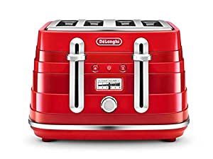 "De'Longhi ""De%27Longhi"" Avvolta CTA4003R 4-Slice Toaster - Red"