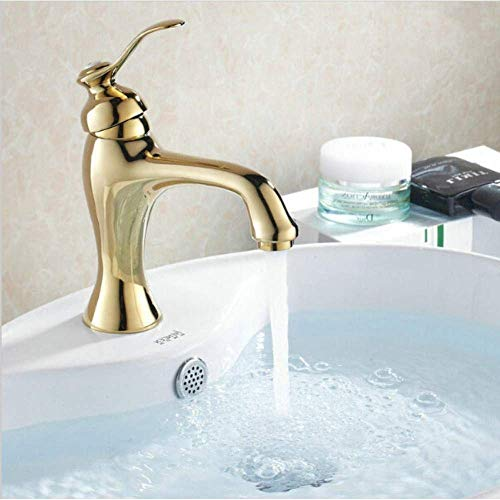 BXU-BG Grifo de la cocina grifo de oro lavabo grifos monomando cubierta montado banheiro fregadero grifo