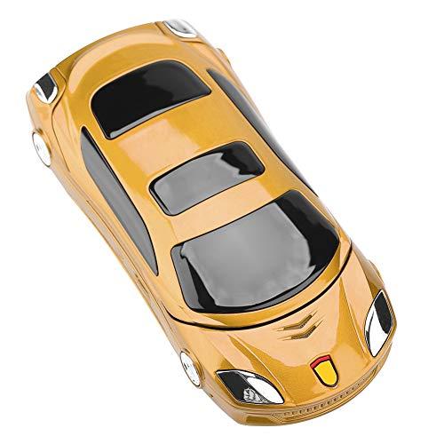 Fdit Teléfono abatible, Modelo de Coche, teléfono móvil para Ferrari, teléfono con Teclado abatible para Personas Mayores y Estudiantes, Enchufe Europeo de 100 V-240 V (Oro)