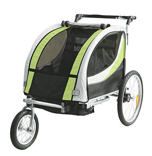 Tiggo Kinderfahrradanhänger Fahrradanhänger Jogger 2in1 Anhänger Kinderanhänger JBT03N-D02 902-D02