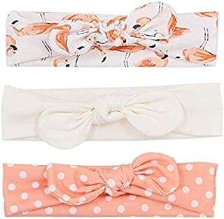 Baby Girl Headbands and Bows Pack of 3, Newborn Infant Toddler Hair Accessories Headband Set