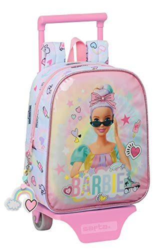Barbie Mochila Safta Guardería con Carro Safta Girl Power, 220x100x270mm