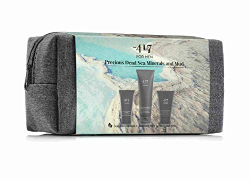 Para hombre n.º 894 por -417, 3 Piece Dead Sea Kit for Men- Includes Mineral Shaving Cream, After Shave and Body & Hair Shampoo - Suitable for All Skin Types