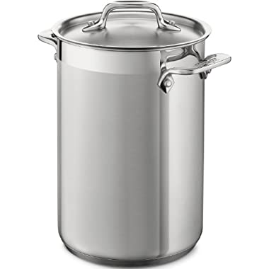 All-Clad 59905 Stainless Steel Dishwasher Safe Asparagus Pot with Steamer Basket Cookware, 3.75-Quart, Silver