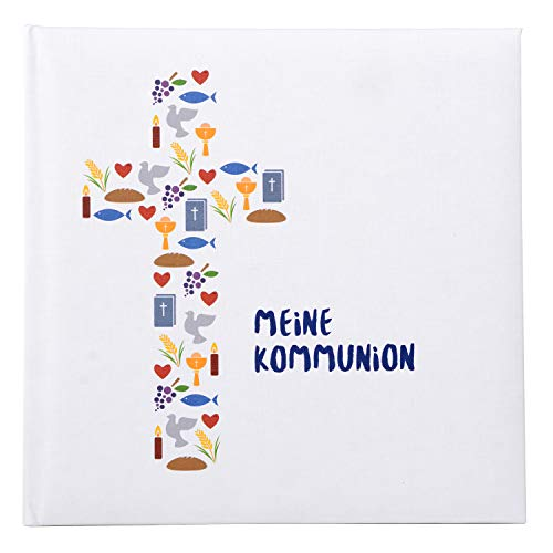 Goldbuch Fotoalbum für die Kommunion, Spirit, 25x25 cm, 60 weiße Seiten, 4 Seiten Textvorspann, Kunstdruck, Weiß/Bunt, 03 062
