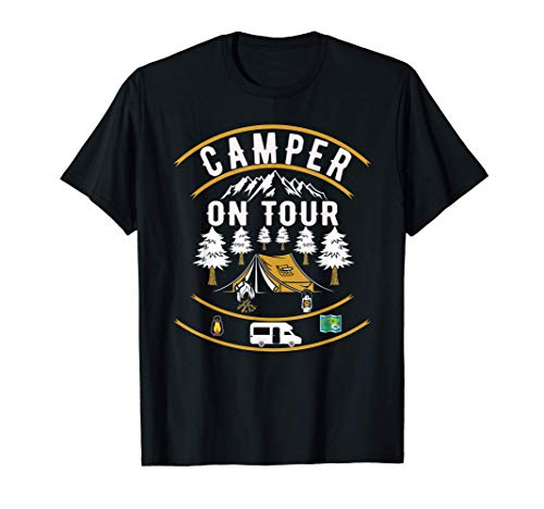 Camper On Tour | Camping Wohnwagen | Wohnmobil T-Shirt