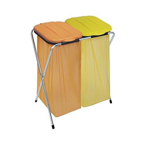 MASTA Müllsackständer Ercofix mit Deckel für 2 Müllsäcke 60-130 L, 1 Stück,900800