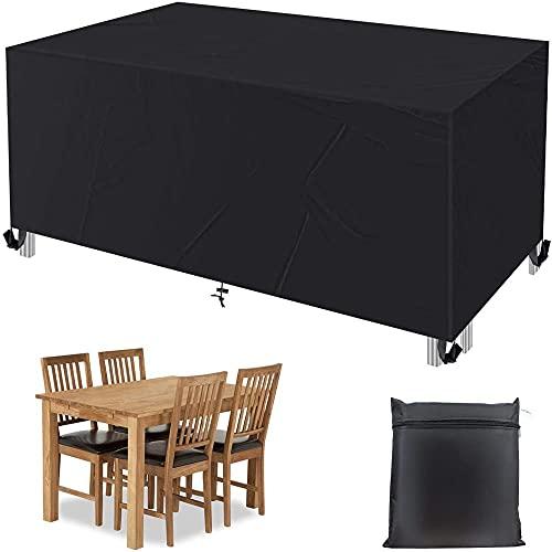 GCFG Funda para Muebles de Exterior, 420D Oxford Resistente, con 4 Hebillas, Funda para Muebles de jardín, la Funda para Muebles de terraza es Impermeable y Anti-Ultravioleta.