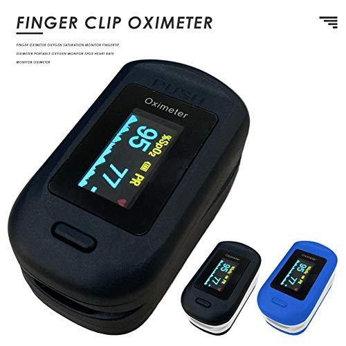 su-xuri Oxímetro De Dedo para Adultos Y Niños Portátil con Batería Monitor De Saturación De Oxígeno En Sangre Medidor De Frecuencia Cardíaca Pulso PR Spo2 Oxímetro De Monitor con Pantalla OLED