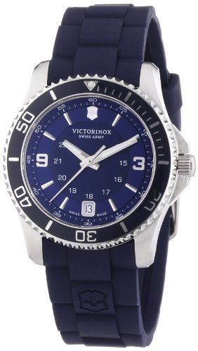 Victorinox Damen Maverick - Analoge Quarz Swiss Made Blauer Armbanduhr 241610