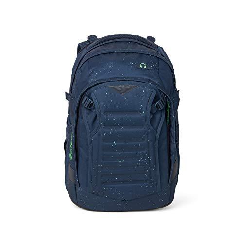 Satch match Schulrucksack - ergonomisch, erweiterbar auf 35 Liter, extra Fronttasche - Space Race - Blau