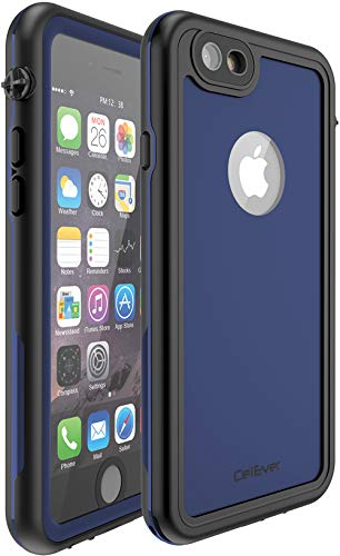 CellEver Compatible with iPhone 6 Plus / 6s Plus Waterproof Case Shockproof IP68 Certified SandProof Snowproof Full Body Protective Cover Designed for iPhone 6 Plus and iPhone 6s Plus KZ C-Navy Blue