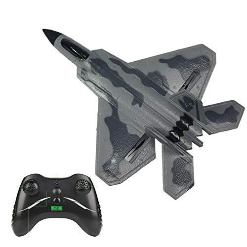FX-822 F22 RC Avión Planeador Juguetes, EPP Foam Control Remoto RC Combatiente Para Avión de Control Remoto Phantom 3.0 | Modelo de avión de combate de juguete con girocompás de 6 ejes incorporado