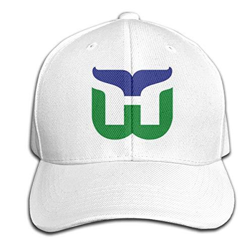 Mr.BaiChun Boys Hartford Whalers Retro Hockey Old School Headgear White