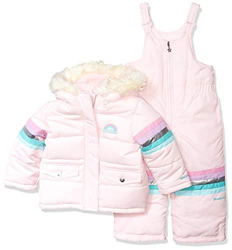 Skechers Girls' Toddler 2-Piece Heavyweight Snowsuit, Natural Pink, 2T