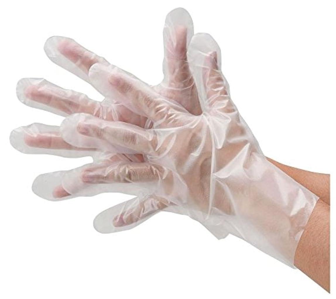 割り込み楕円形襟川西工業 ポリエチレン手袋 フィットタイプ 外エンボス 100枚入 #2014 クリア M