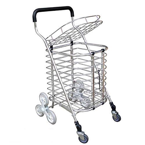 Chariot Creative Light- Véhicule à Quatre Roues de Camion Se déplaçant Silencieux Multi-Fonctionnel matériel en Alliage d'aluminium de à provisions pour l'usage de Famille de supermarché