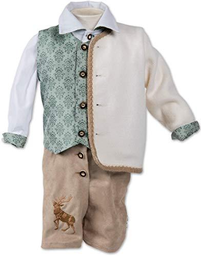 Taufanzug Trachtanzug Baby Taufe Buben Kinder Grün Weiß Braun