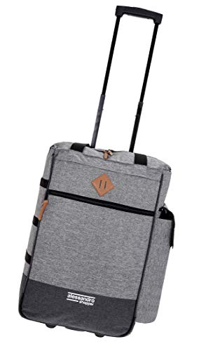 Alessandro Einkaufsroller Shoppingtrolley Shopper Einkaufstrolley (Two Tone Grey)