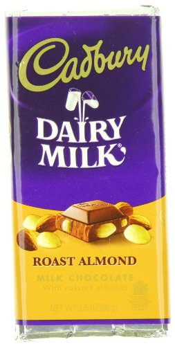 Cadbury Roast Almond Bar, Milk Chocolate with Roasted Almonds, 3.5-Ounce Bars (Pack of 12)