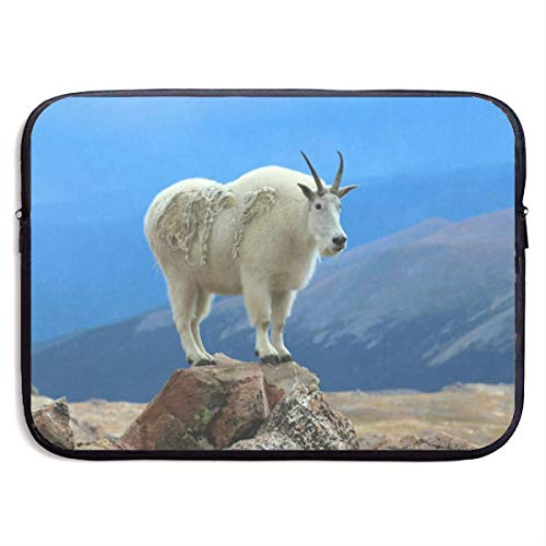 Funny Briefcase Mountain Goat Laptop Sleeve Waterproof Neoprene Diving Fabric Protective Briefcase Laptop Bag for IPad, Notebook/Ultrabook/Acer/Asus/Dell