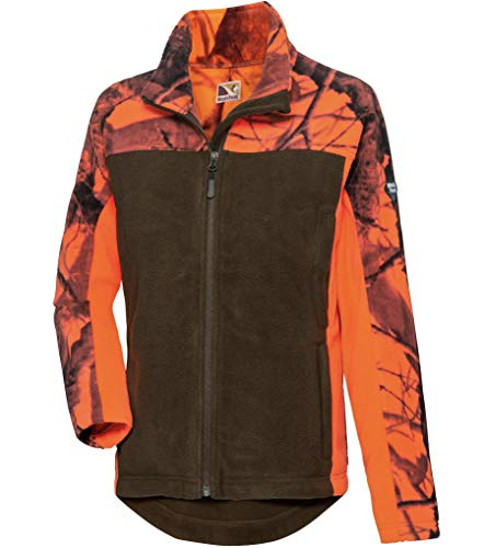 Wald & Forst Damen Signal Fleecejacke Core Orange Camo Grün (3XL (48))