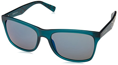 BOSS Orange 0211/S 23 Gafas de sol, Verde (Matte Green Graph/Blue Grey Speckled), 56 Unisex-Adulto