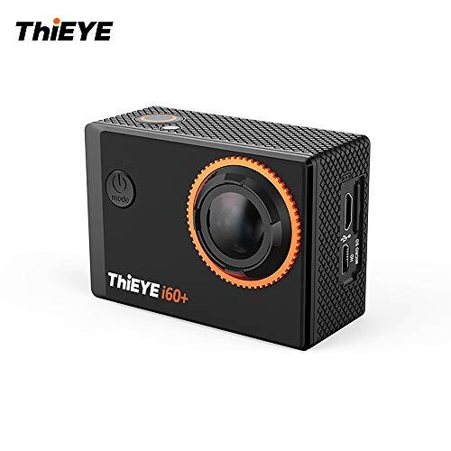 TOPTOO ThiEYE i60 + 4K 30fps WiFi Action-Sportkamera 170 ° Weitwinkelobjektiv 2,0-Zoll-TFT-LCD-Bildschirm 4-Fach Zoom 60m wasserdichte Unterstützung Zeitraffer-Zeitlupe mit Lithium-Batterie