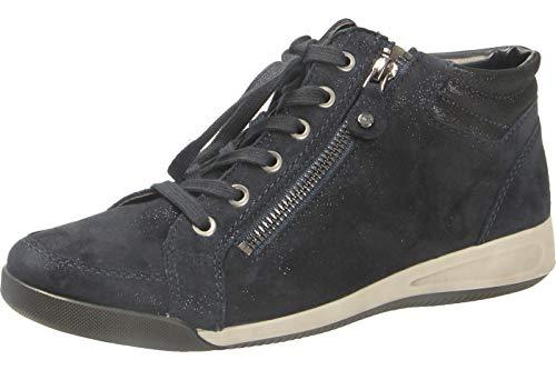 ARA Damen ROM 1244407 Hohe Sneaker, Blau (Blau 12), 38.5 EU